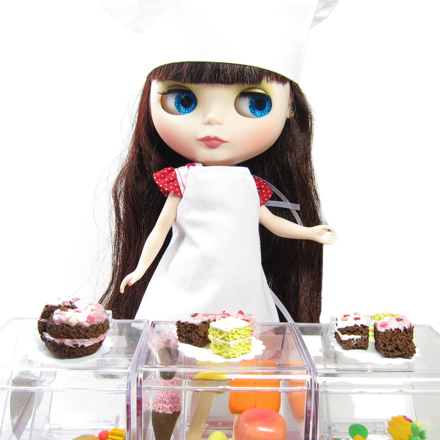 blythe chef s hat doll accessory for kitchen cooking brown