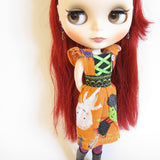 Halloween dress for Blythe or playscale dolls