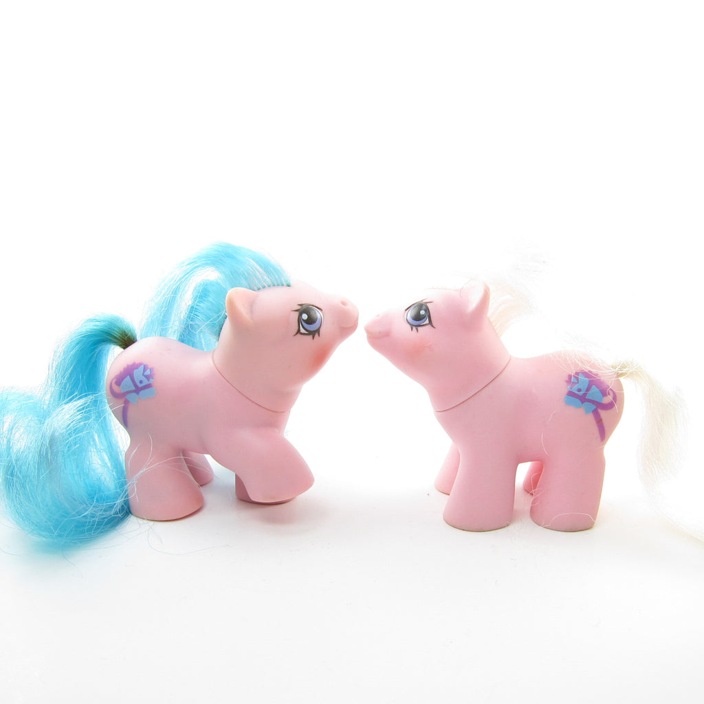 Sticky & Sniffles Newborn Twins G1 My Little Pony Set