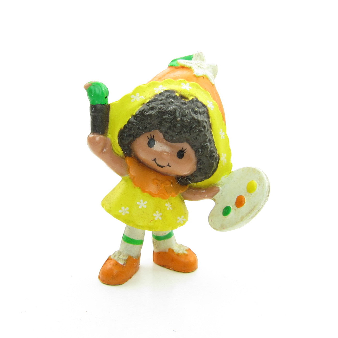 Orange Blossom with Paint Brush miniature figurine