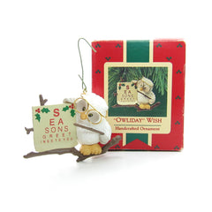 "Hallmark ""Owliday"" Wish Seasons Greetings to you 1987 ornament"