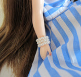 Set of 3 Pearl Bracelets for Blythe, Pullip & Playscale dolls