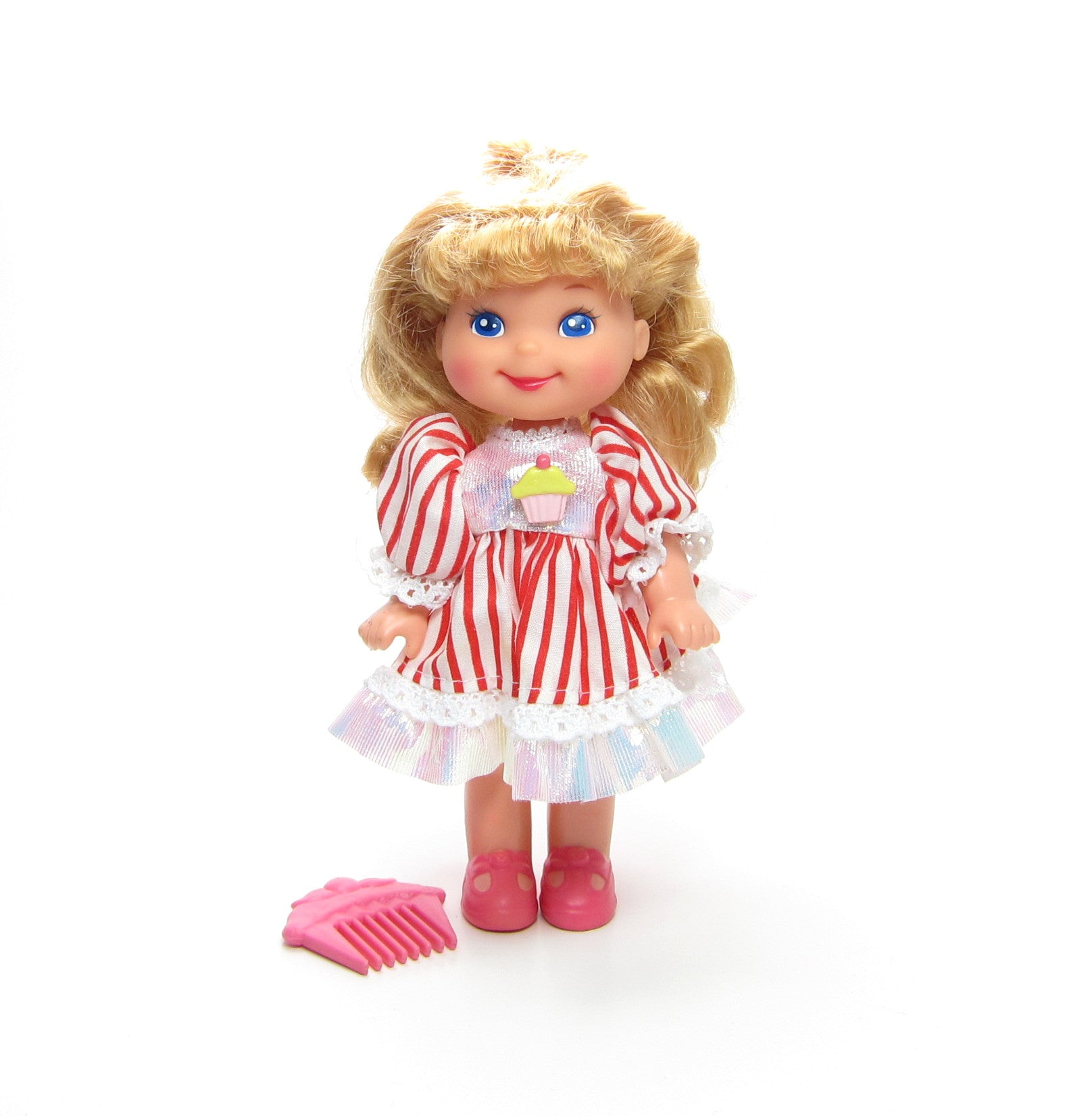 Penny Peppermint Cherry Merry Muffin doll with cupcake comb