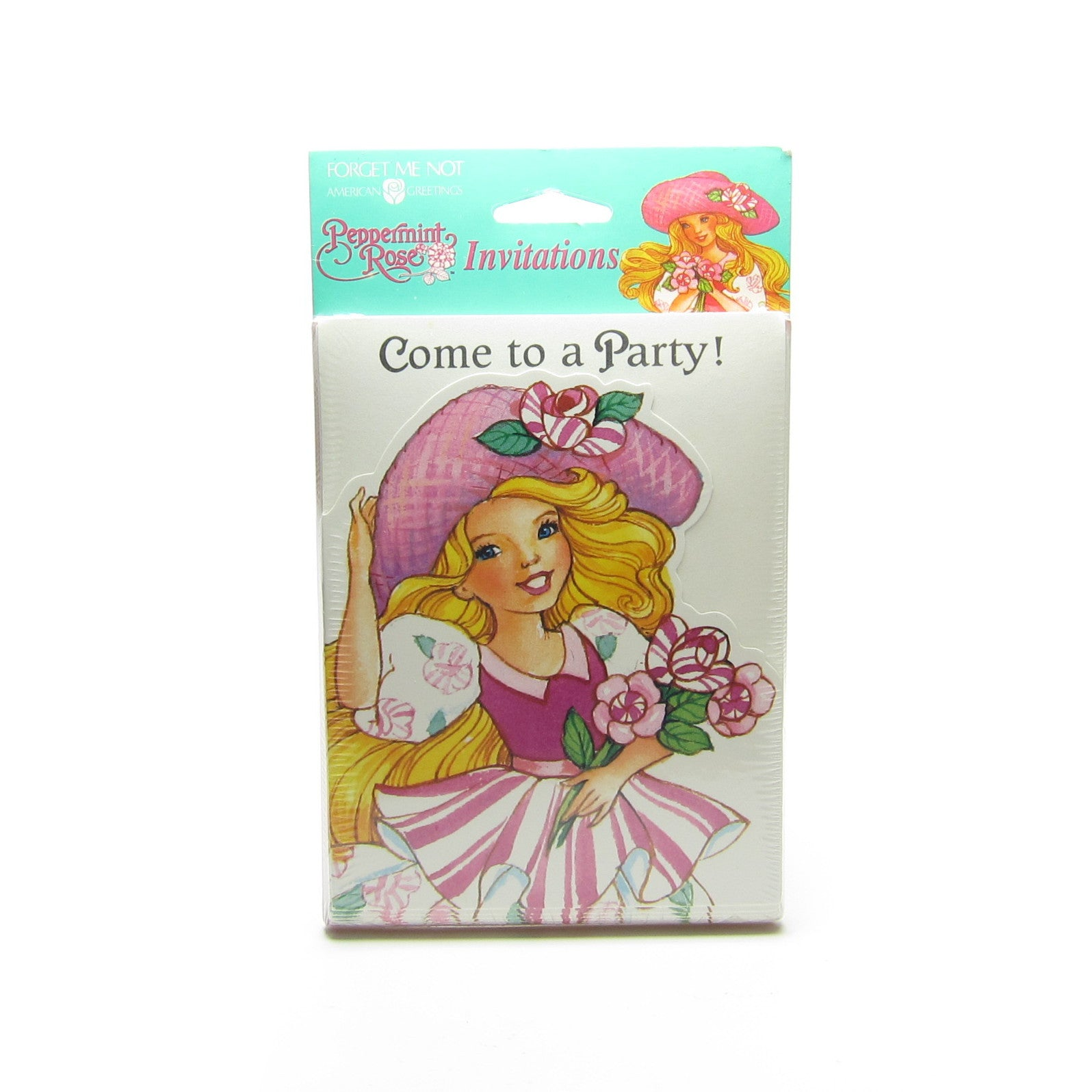 Peppermint Rose birthday party invitations
