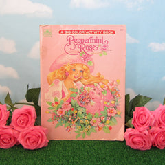 Peppermint Rose Coloring Book Vintage 1992 Color & Activity Pages