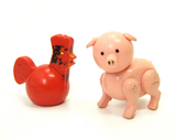 Rooster and pig for Fisher-Price Play Family Farm