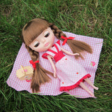 Blythe summer picnic dress with short sleeves