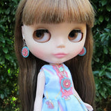 Blythe doll necklace with filigree pendant