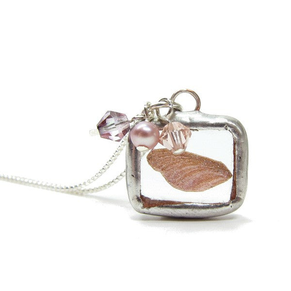 Flower Girl Fairy Wing Charm Necklace