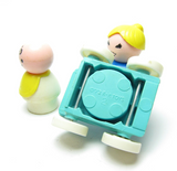 Fisher-Price Little People Play Family mom and baby with stroller