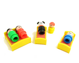 Play Family Little People toys with beds and dog