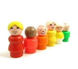 Fisher-Price Play Family Little People mom, baby, children and grandma