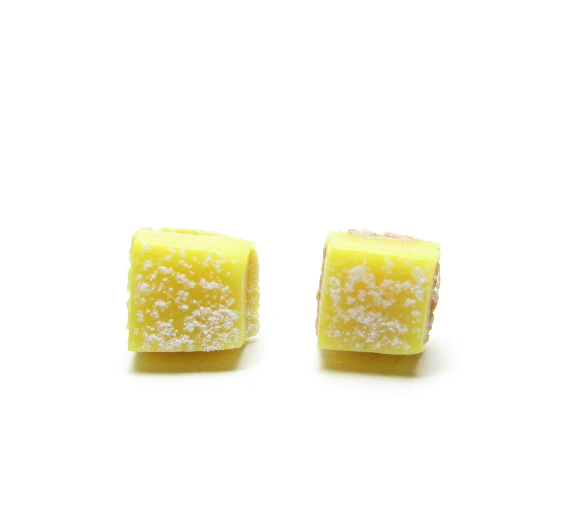 Lemon bar tart post earrings