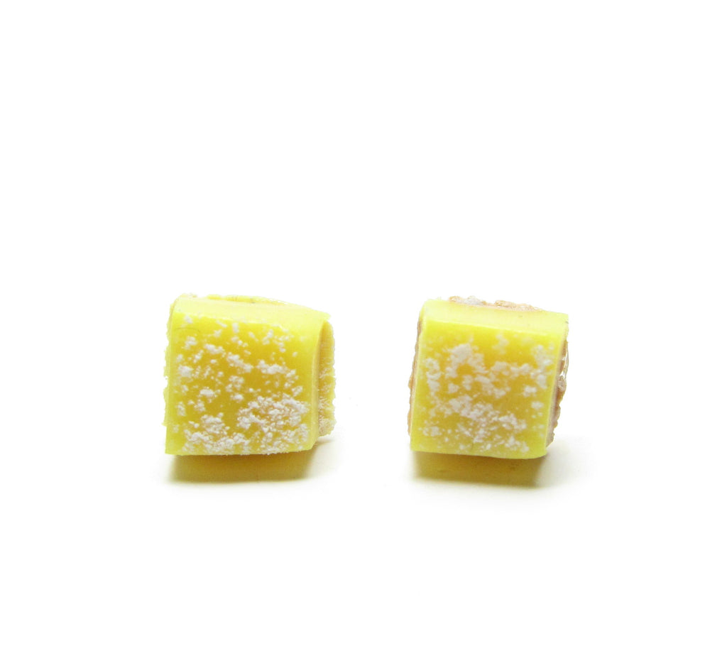 Lemon Bar Earrings Miniature Lemon Tart Posts