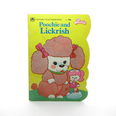 Poochie and Lickrish Vintage 1983 Golden Fuzzy Shape Book