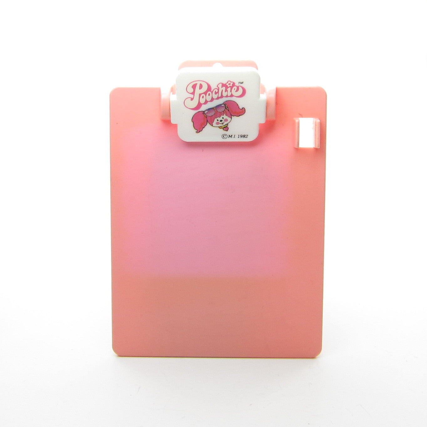 Poochie pink plastic clipboard from note writer set