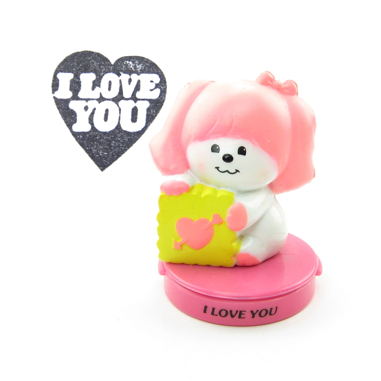 Poochie I Love You rubber ink stamp