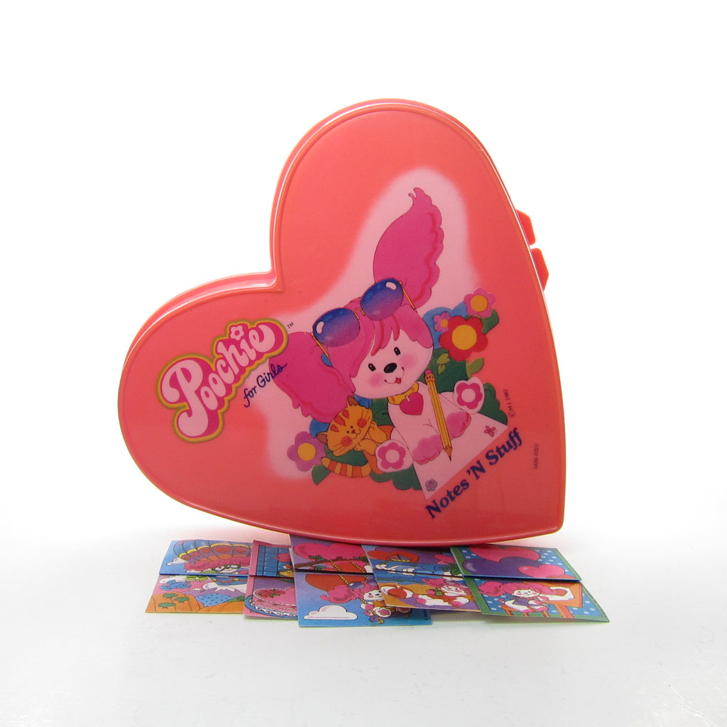 Poochie Notes 'N Stuff Heart Shaped Box