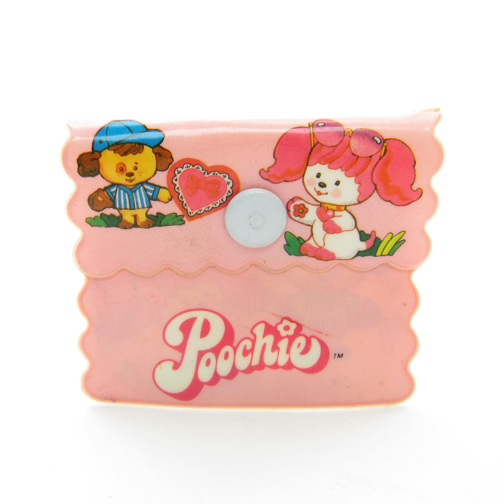 Poochie Small Change Coin Purse Vintage Plastic Pouch