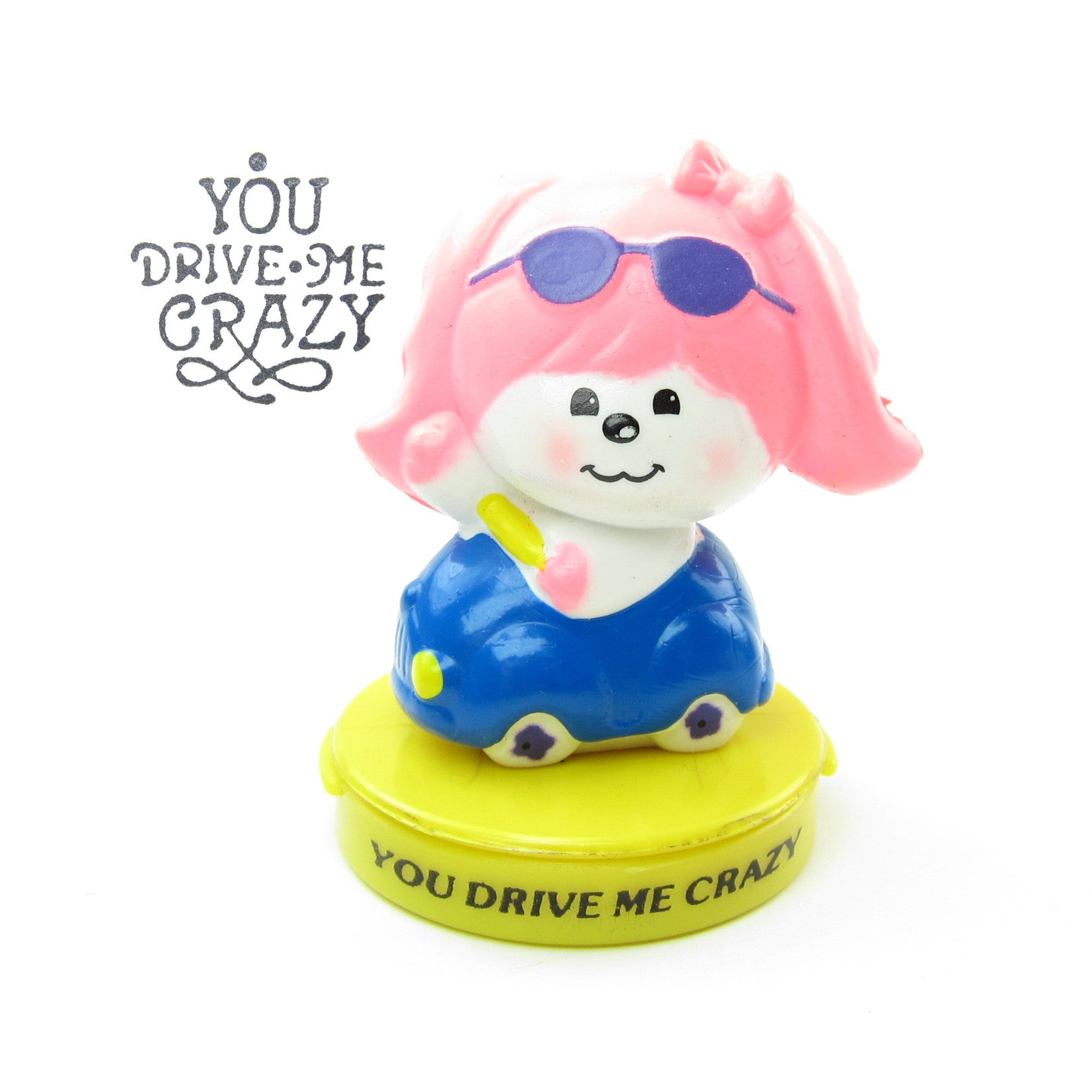 Poochie You Drive Me Crazy rubber ink stamp