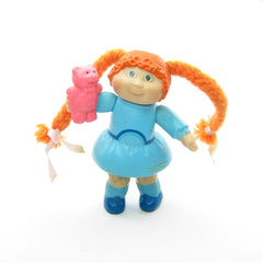 Cabbage Patch Kids girl with red hair and blue dress poseable doll