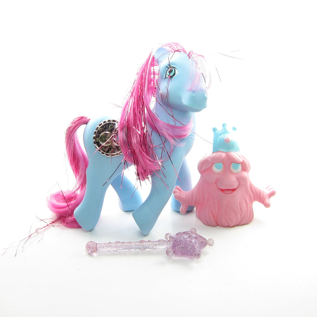 Princess Royal Blue Sapphire Vintage G1 My Little Pony with Accessories