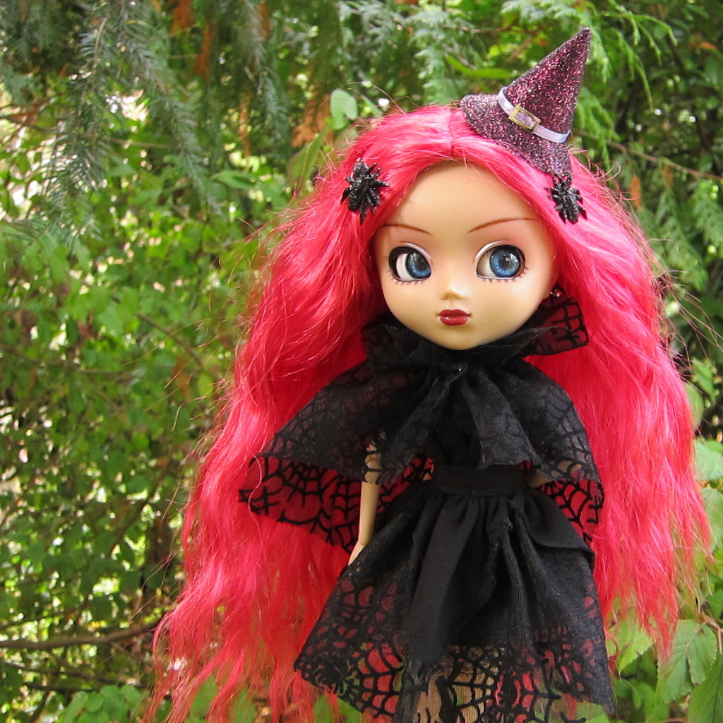 Spider Web Cape Halloween Costume Collar for Blythe & Pullip Dolls