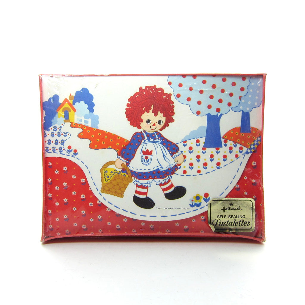 Raggedy Ann Postalettes Vintage Hallmark Box of Stationary Cards