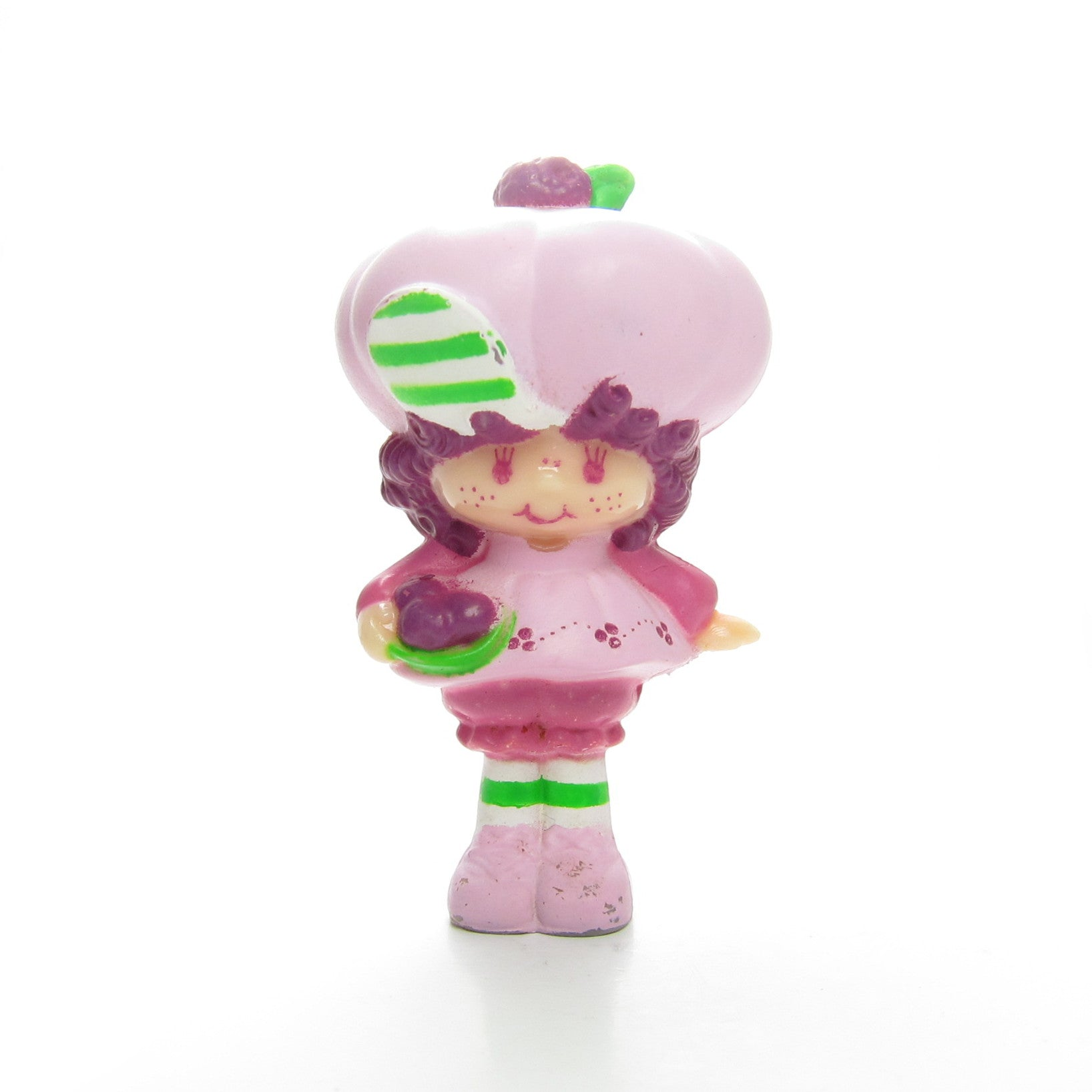 Raspberry Tart with a bowl of berries miniature figurine