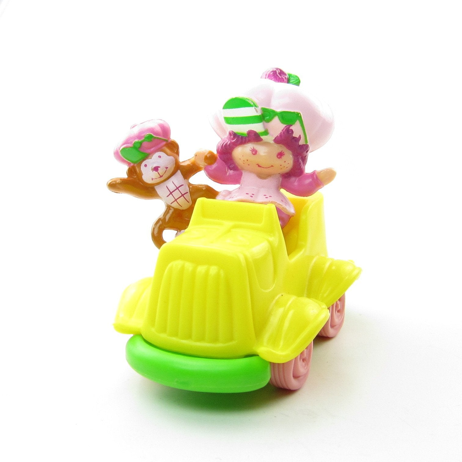 Raspberry Tart Riding in a Car with Rhubarb miniature figurine