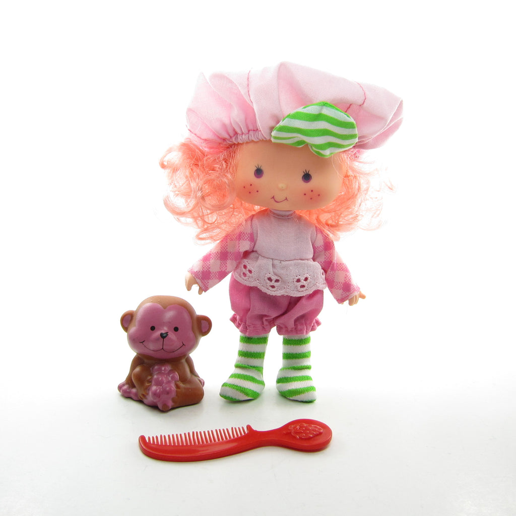 Raspberry Tart Doll with Rhubarb Monkey Pet