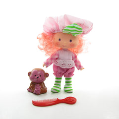 Raspberry Tart Strawberry Shortcake doll with Rhubarb pet