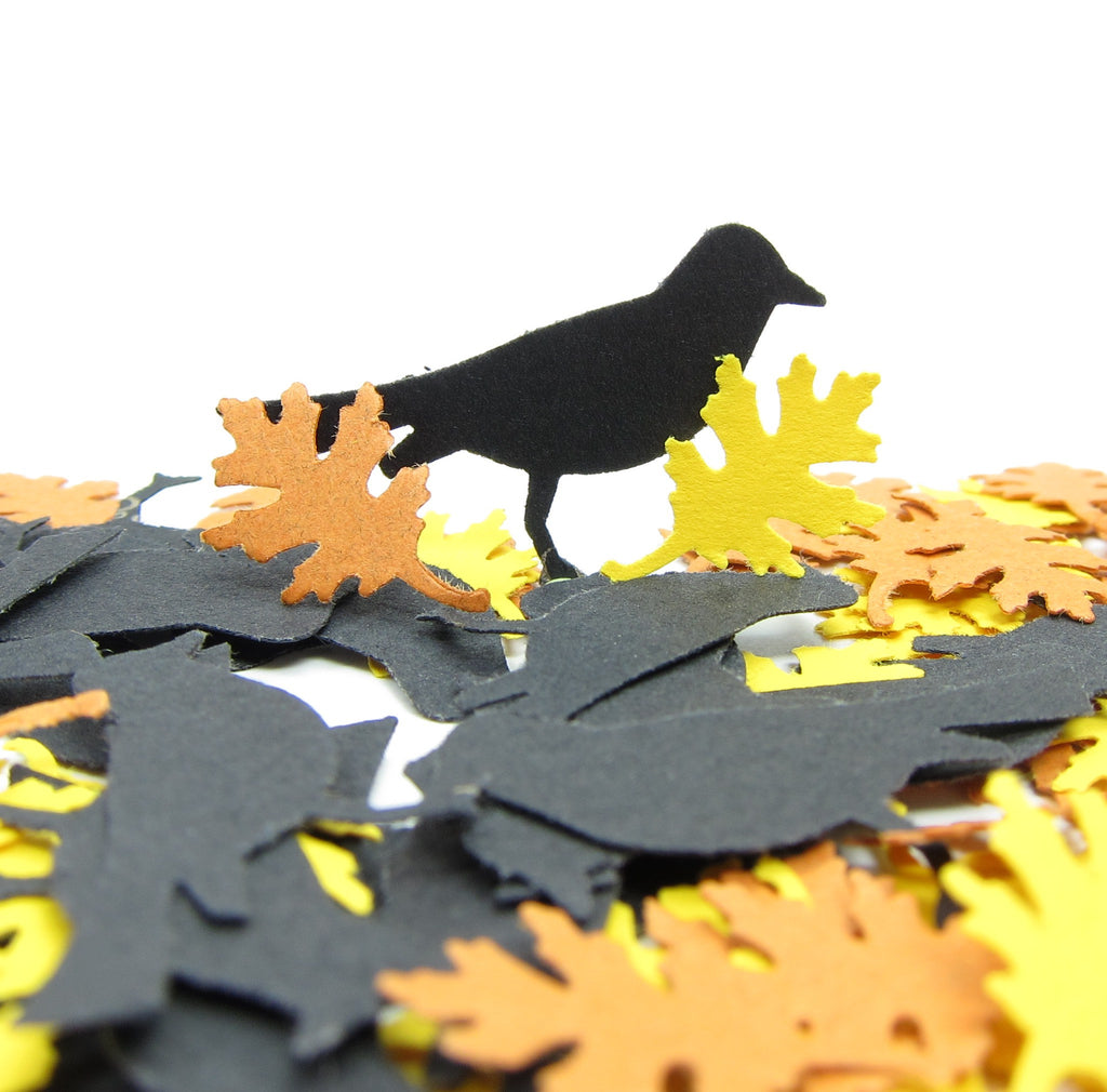 Black Crows & Oak Leaves Paper Punches for Autumn