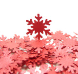 Red Shimmer Snowflake Die Cuts Paper Punches