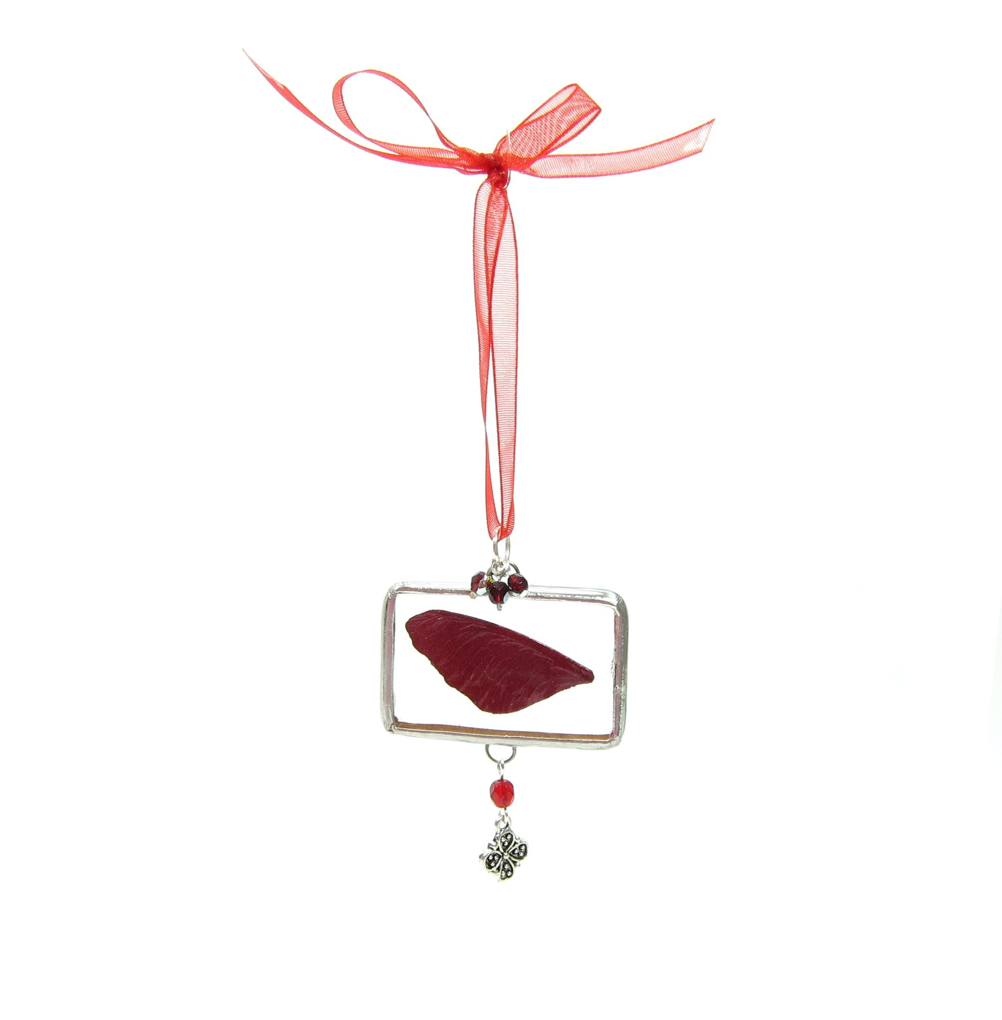 Christmas Fairy Ornament Soldered Glass with Fairy Wing ...