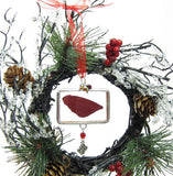 Soldered glass sugar plum fairy wing ornament
