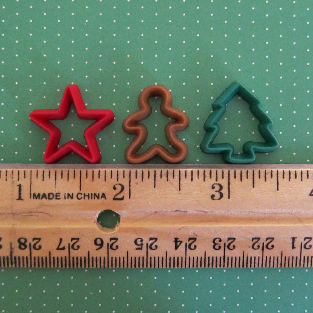 Playscale miniature Christmas cookie cutters
