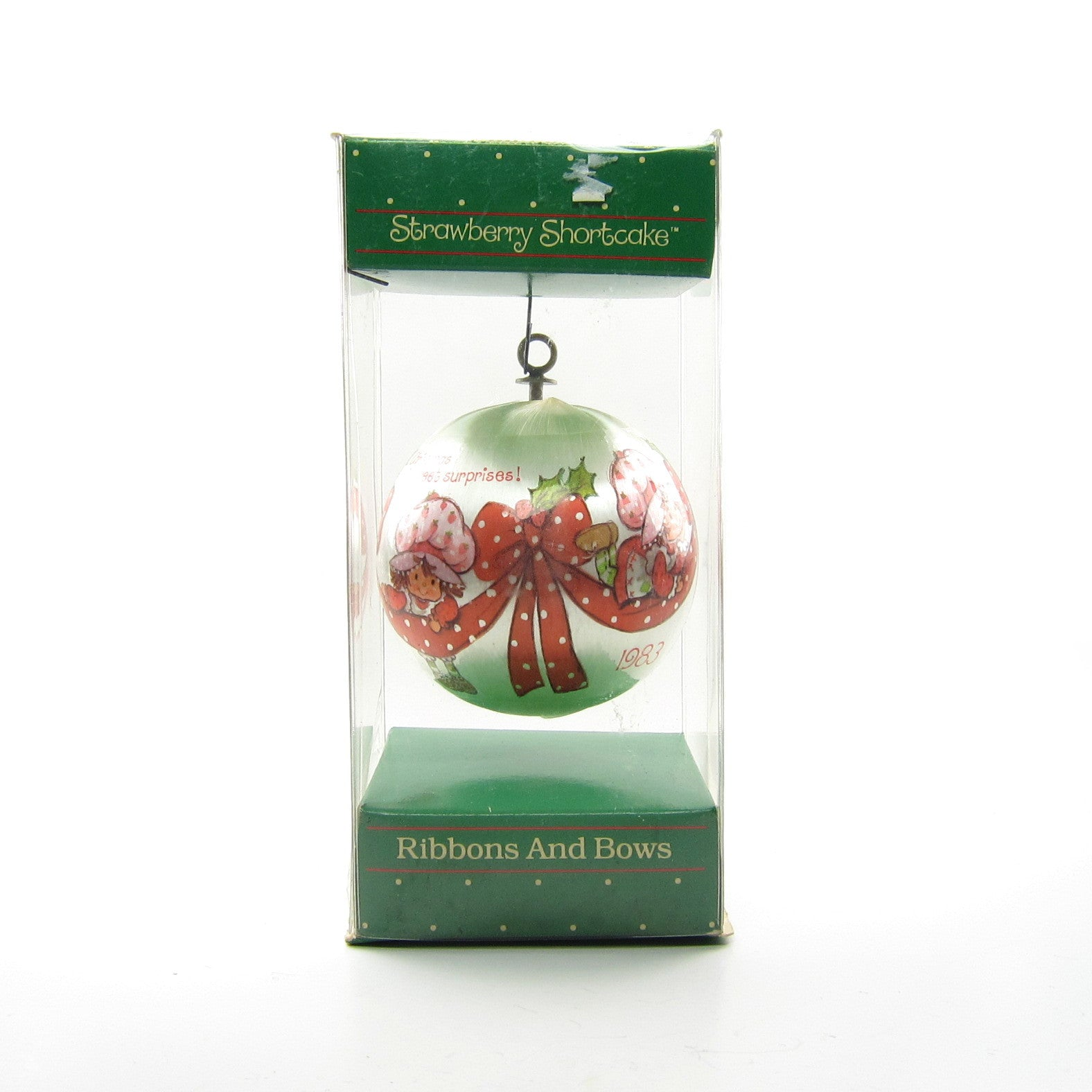 Ribbons and Bows Strawberry Shortcake Christmas ornament