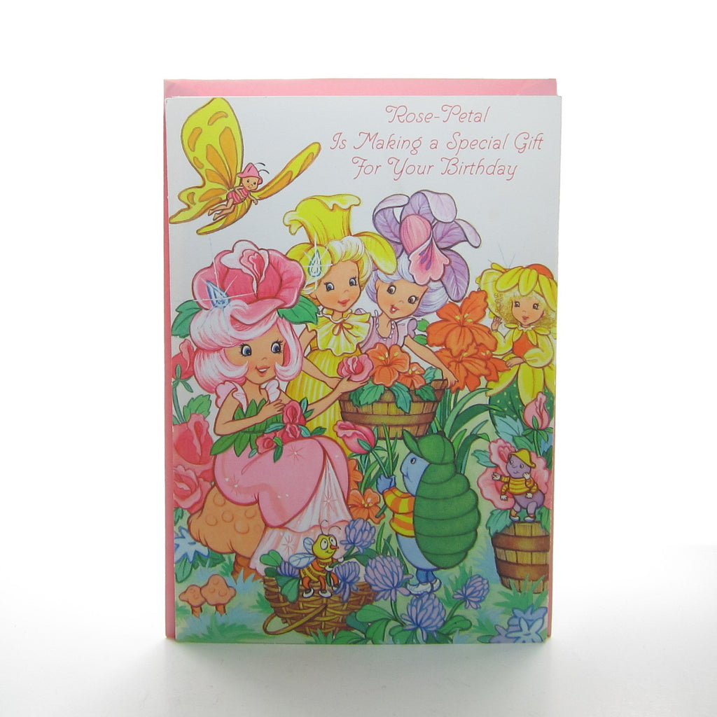 Rose Petal Place Happy Birthday Card with Punch-Out Flower Crown