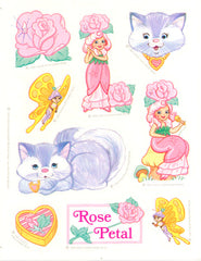 Rose Petal & Pitterpat Stickers Vintage 1983 Unused Rose Petal Place Sticker Sheet