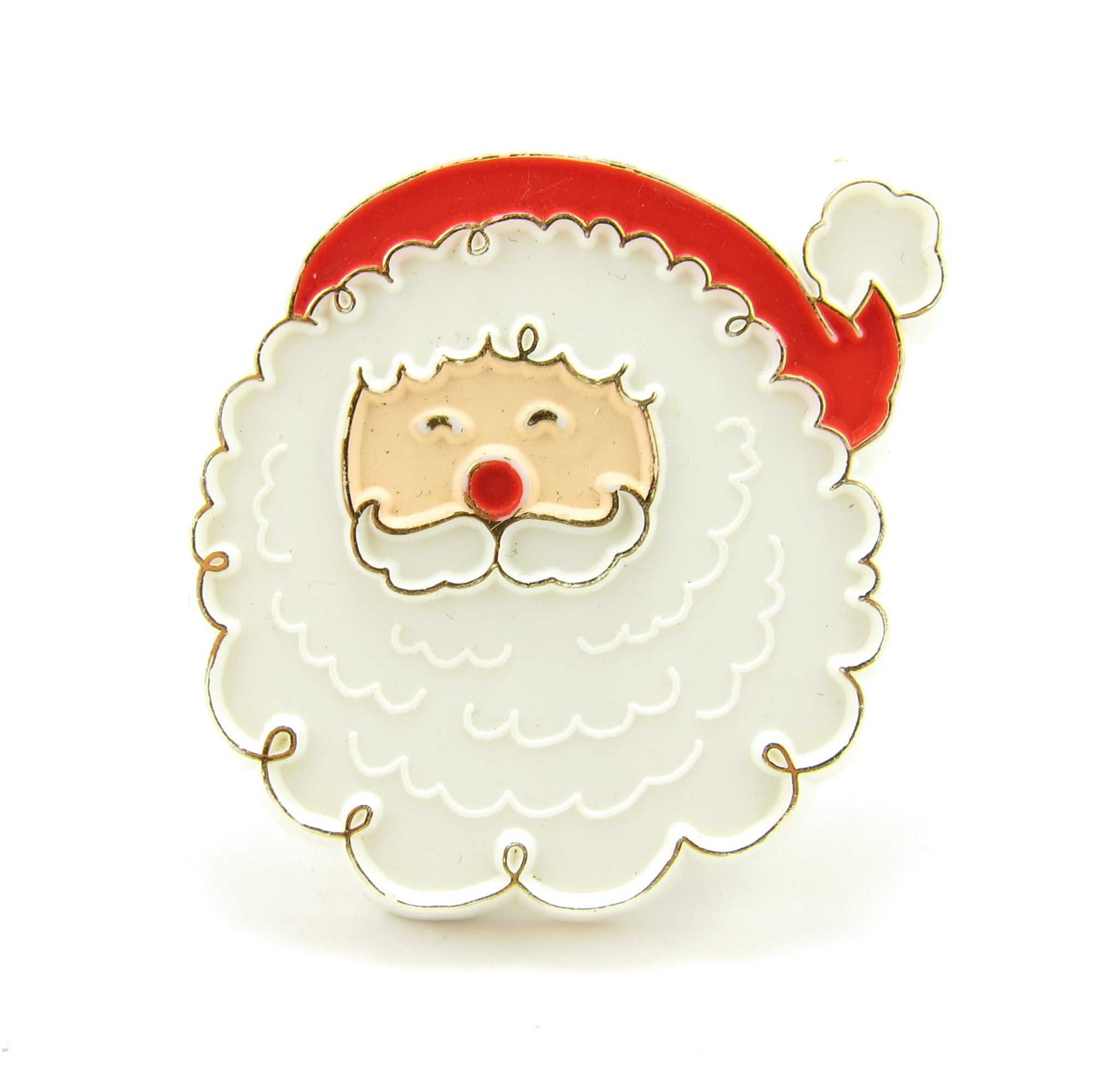 Hallmark Santa Claus face pin