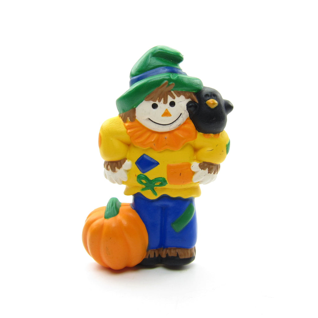 Scarecrow Pin with Pumpkin & Crow Vintage Hallmark Lapel
