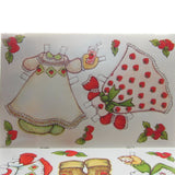Strawberry Shortcake paper doll clothes