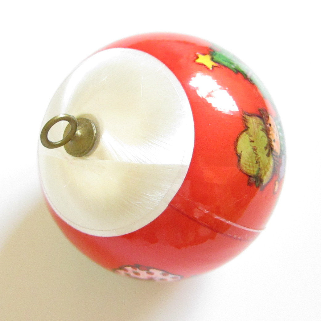 1980 Christmas Is A Special Treat Strawberry Shortcake Silk Ball Ornament