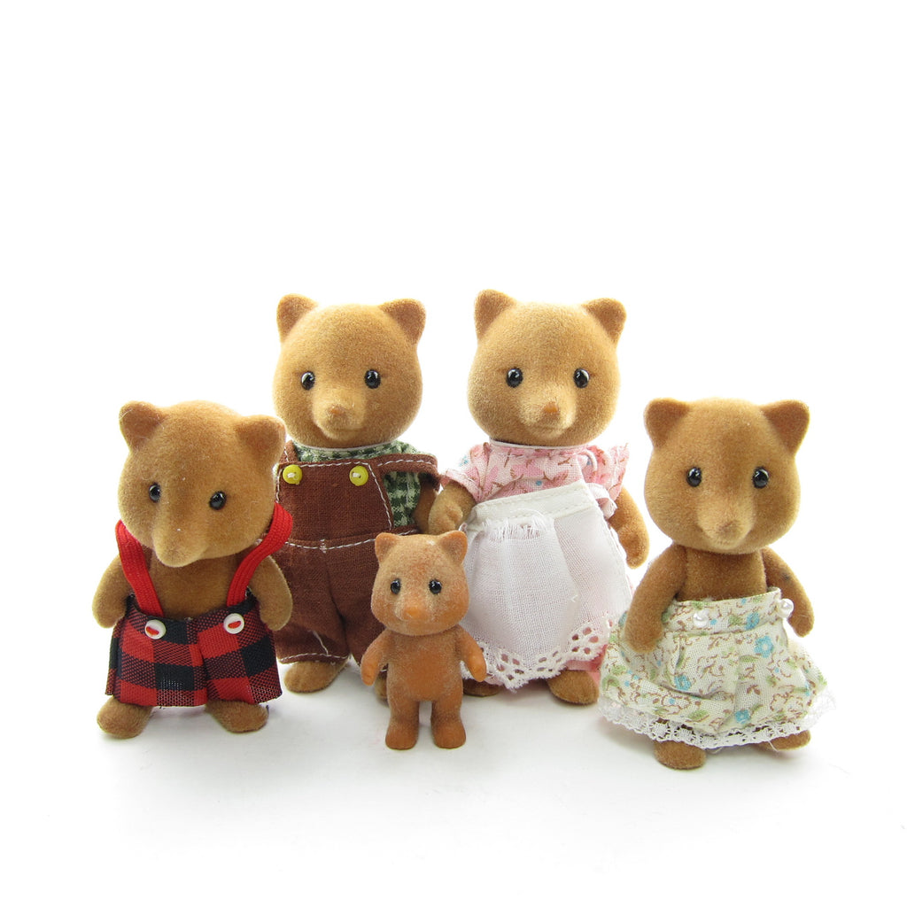 Slydale Fox Family Vintage Sylvanian Families Foxes