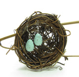 Polymer clay robin's egg earrings