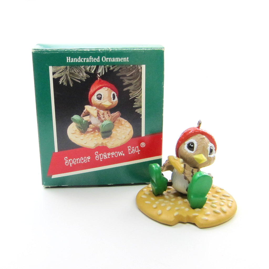 Spencer Sparrow Ornament Vintage Hallmark 1989 Christmas Tree Decoration