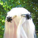 Halloween spider hair clips for Blythe & Pullip dolls