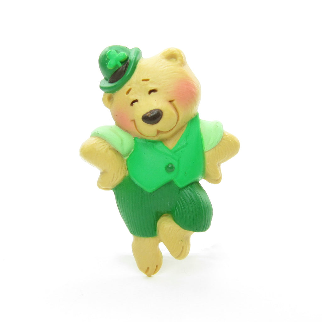 St. Patrick's Day Teddy Bear Pin Vintage Hallmark Lapel