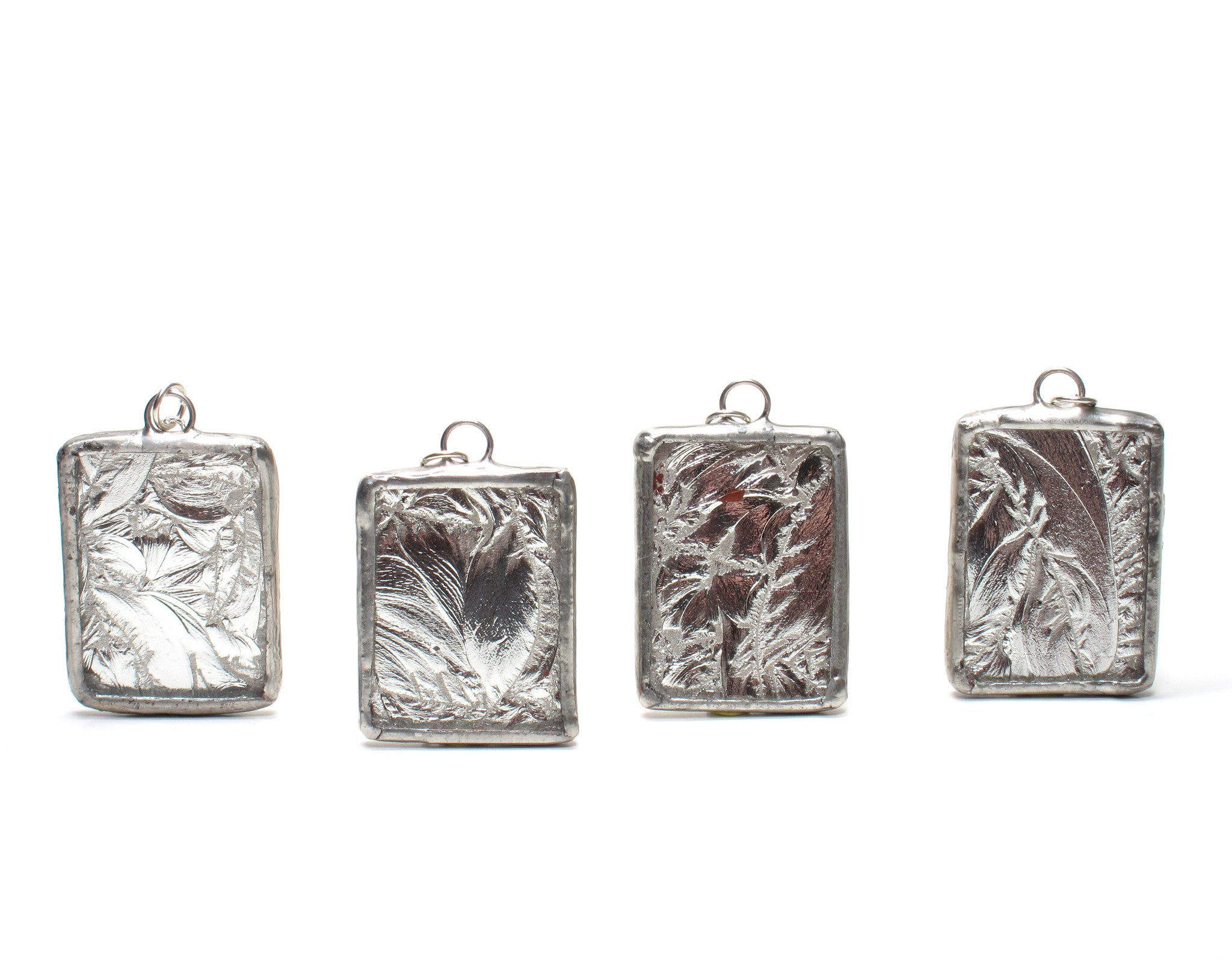 Silver frost bridesmaid necklaces set of 5 stained glass soldered silver frost bridesmaid necklaces set of 5 stained glass soldered pendants aloadofball Images
